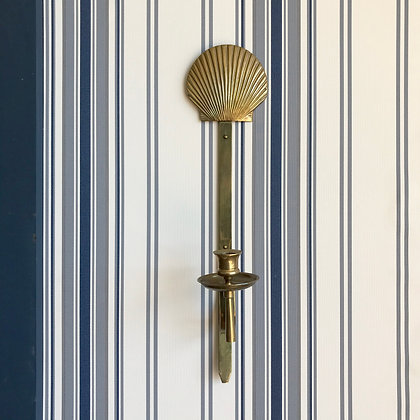 Brass Clam Shell Candle Sconce