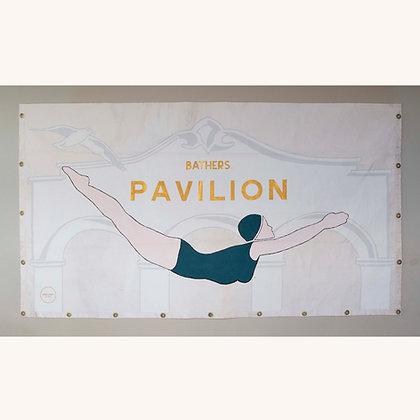 Diving Girl Handpainted Banner 4