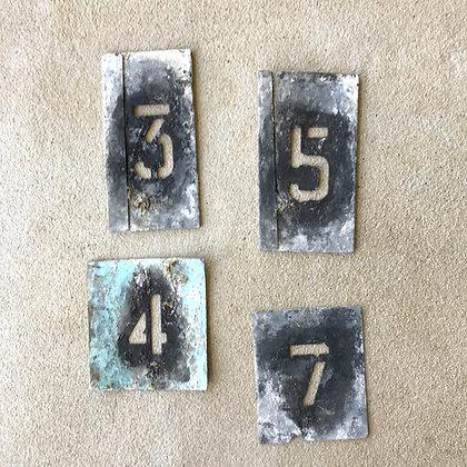 Vintage Number Stencils