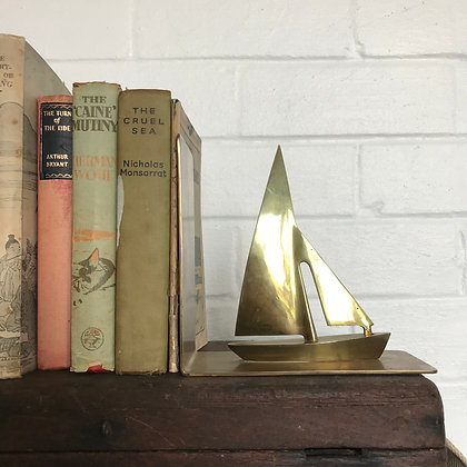 Brass Boat Bookend