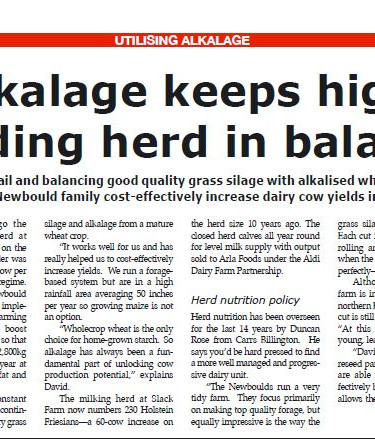 Alkalage Keeps high yielding herd in balance