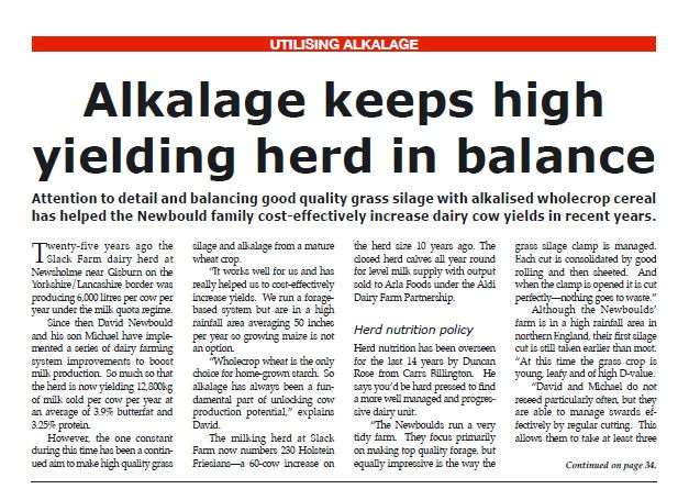 Alkalage Keeps high yielding herd in balance