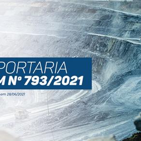 A Portaria ANM nº 793/2021
