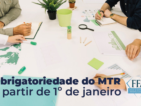 Obrigatoriedade do MTR a partir de 1º de Janeiro