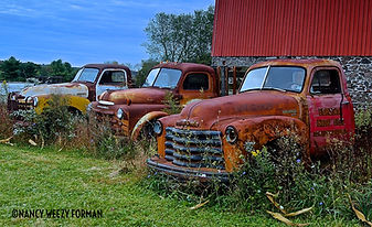 old chevy truck wall art by Weezy