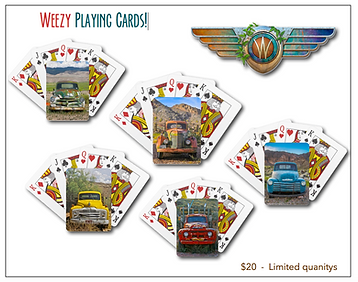 old rust truck art playing cards