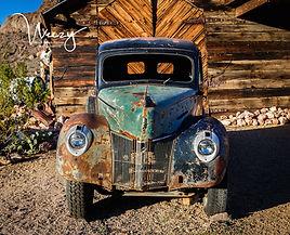 old vintage truck wallart