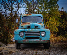old ford pick up blue wall art weezy art