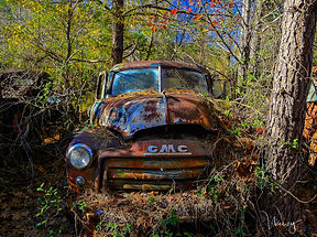old gmc pick up  wall art weezy