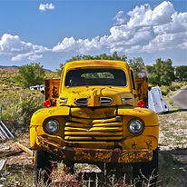 old ford truck  YELLOW art by Weezy