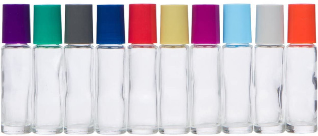 10ml Roller Bottles with Glass Rollerball