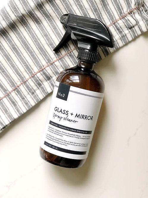 Glass & Mirror Spray Cleaner Label