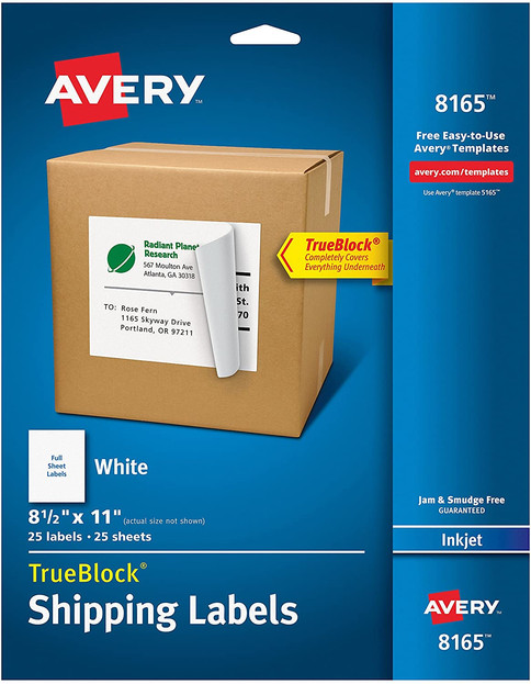 Full Sheet Avery Label Paper