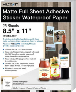 Full Sheet Matte Label Paper