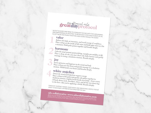 Great Day Protocol Guide Printable File