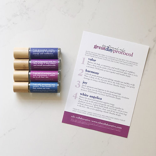 Great Day Affirmations Roller Label Set