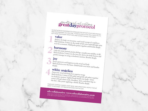 Great Day Protocol Roller Guide Printable File