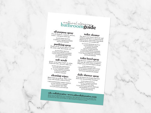 Natural Cleaning Bathroom Guide Printable