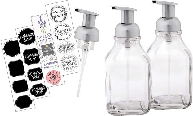 16oz Glass Foaming Soap Dispenser