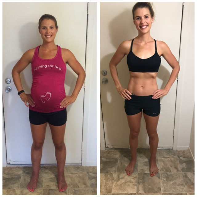 pregnancy before and after picture