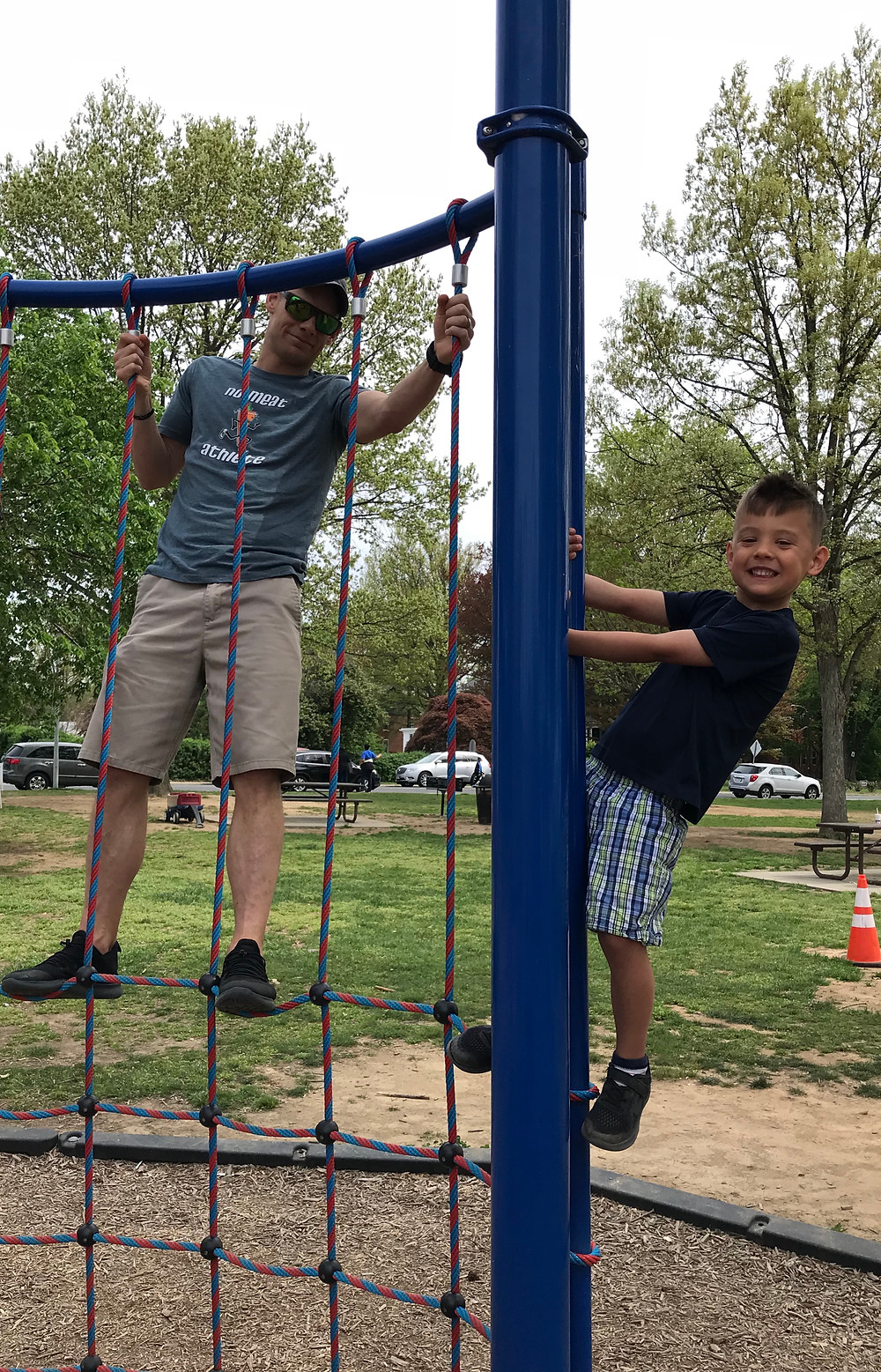 Kids with energy playing at park