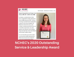 2020 Outstanding Leadership and Service Award for Wellness Education