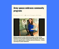 Press Feature: Army APG News Spouse Embraces Community Programs