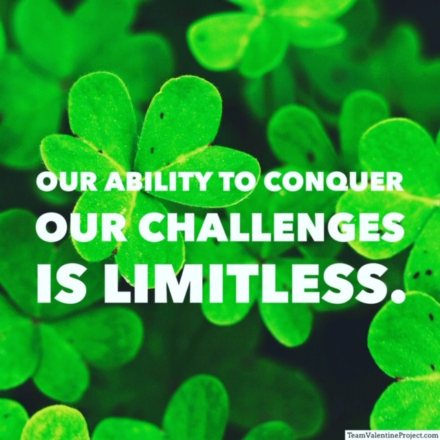 "Quote, ""Our ability to conquer our challenges in limitless."""