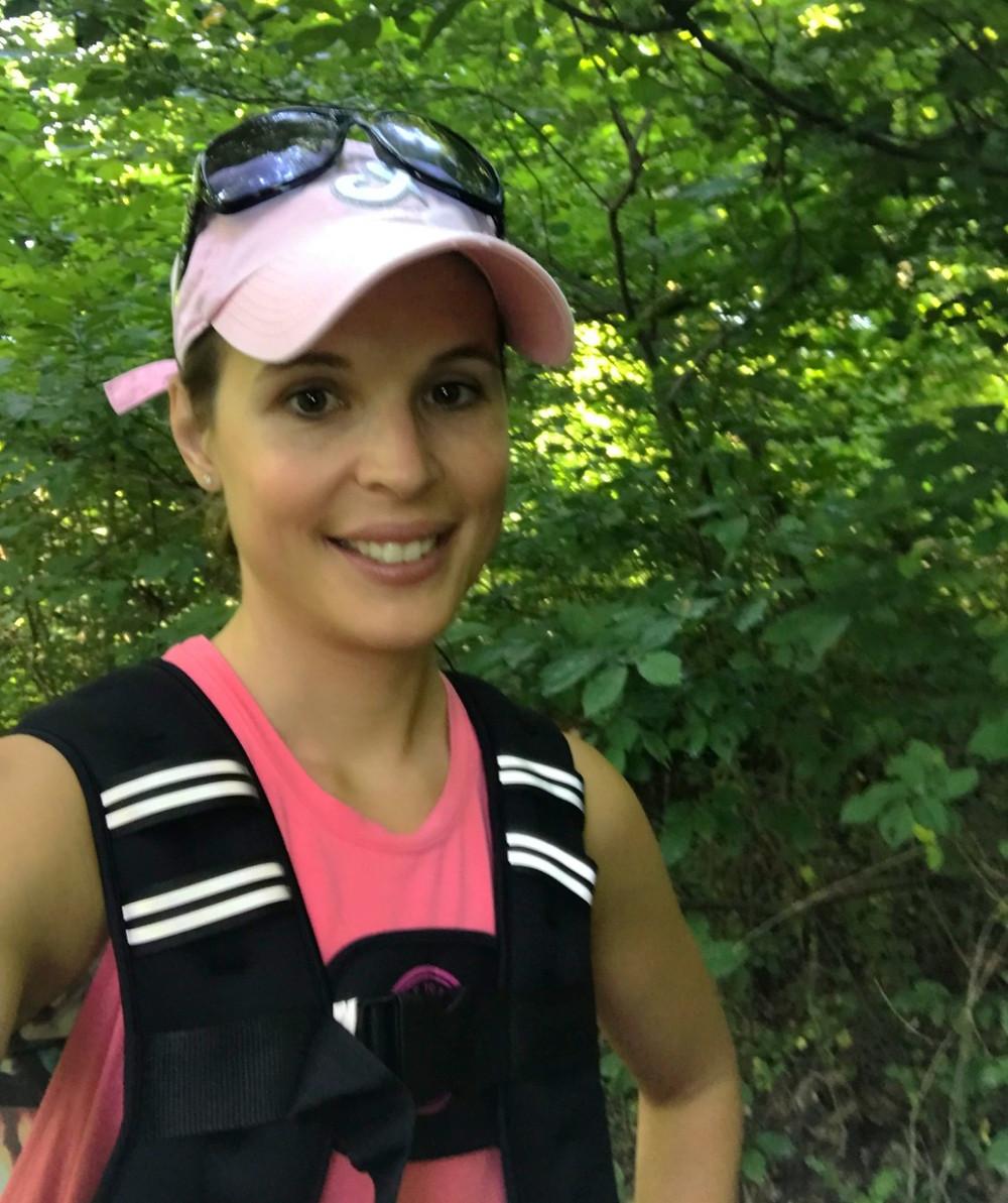 Woman with hyperwear vest