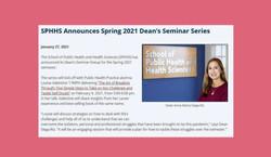 Invited Speaker: University of Massachusetts Dean's Seminar Series