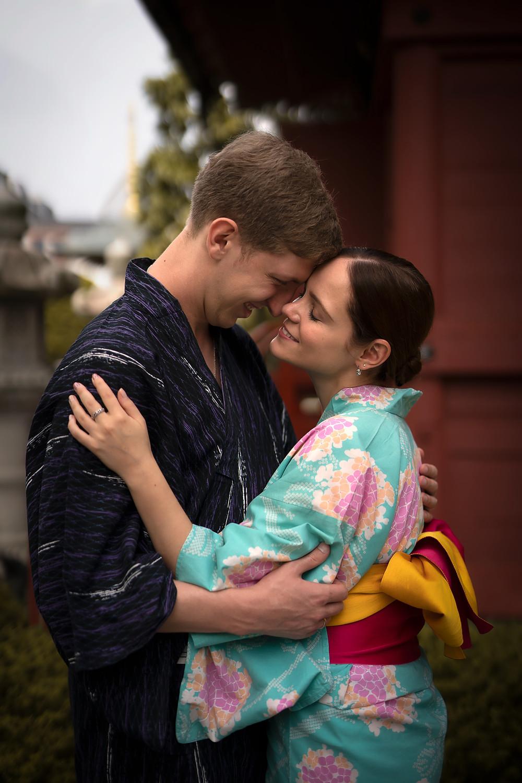 Couple Photoshoot Tokyo Japan Kimono Yukata