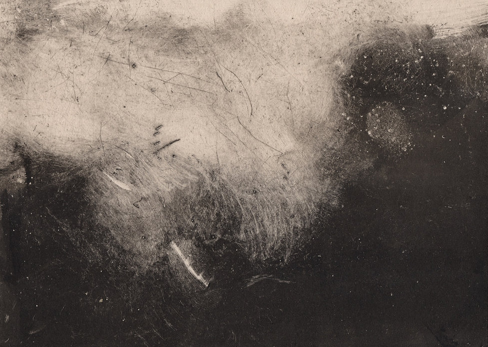 From the storm monotype by David Begley