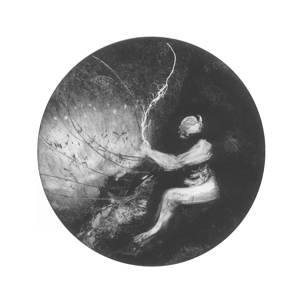 Seer, monotype on paper, 31x 31cm, David Begley, 2017.jpg