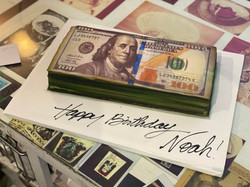 100 Dollar Bill Cake