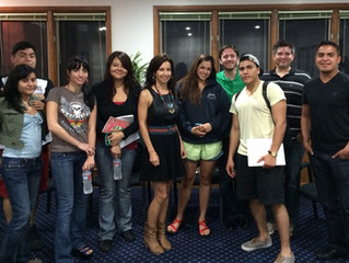 The Red Note script reading in Austin