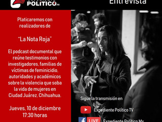 Whitney, Bonilla join Expediente Político TV for hour-long live interview about The Red Note podcast