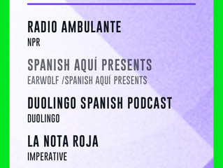 The Red Note podcast nominated for Best Spanish Language Podcast by the iHeart Podcast Awards