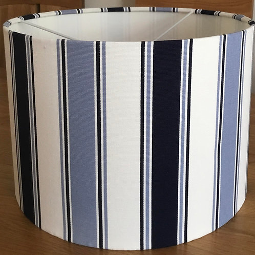 Blue and white stripe lampshade