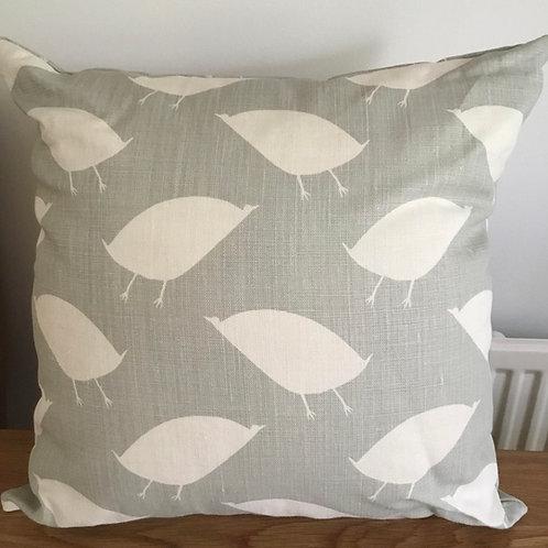 Green/grey bird Cushion