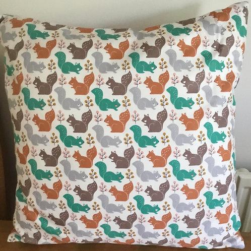 Squirrel & Woodland Animals Cushion