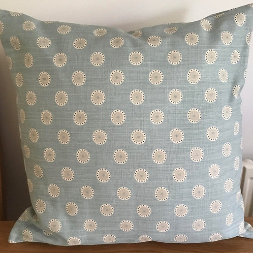 Blue with grey daisies Cushion