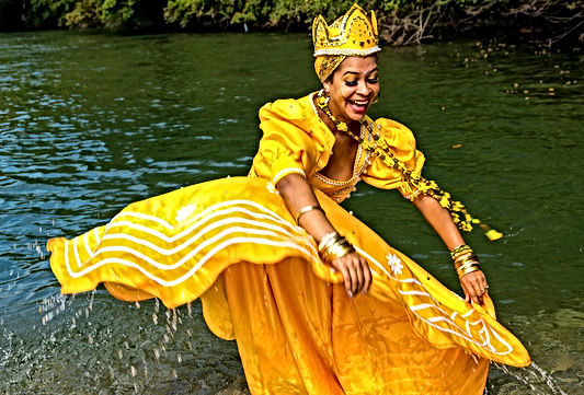 Oshun Playing in River.jpg