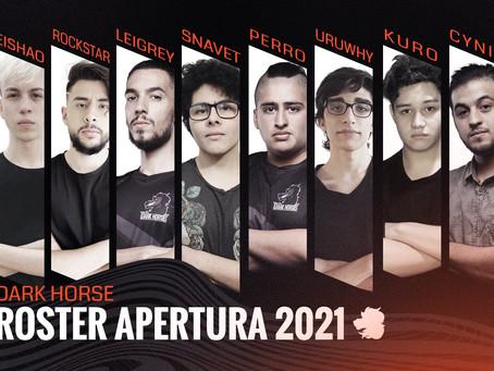Dark Horse presenta su roster para la Liga de Honor Entel 2021