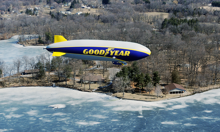 First Flight Over Wingfoot Lake