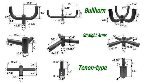 Brackets for light poles