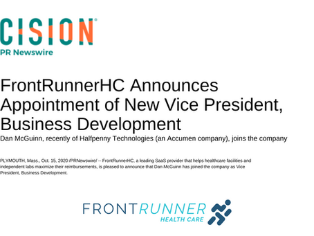 FrontRunnerHC Announces Appointment of New Vice President of Business Development