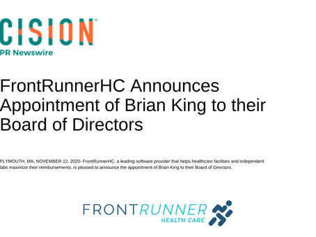FrontRunnerHC Announces Appointment of Brian King to their Board of Directors