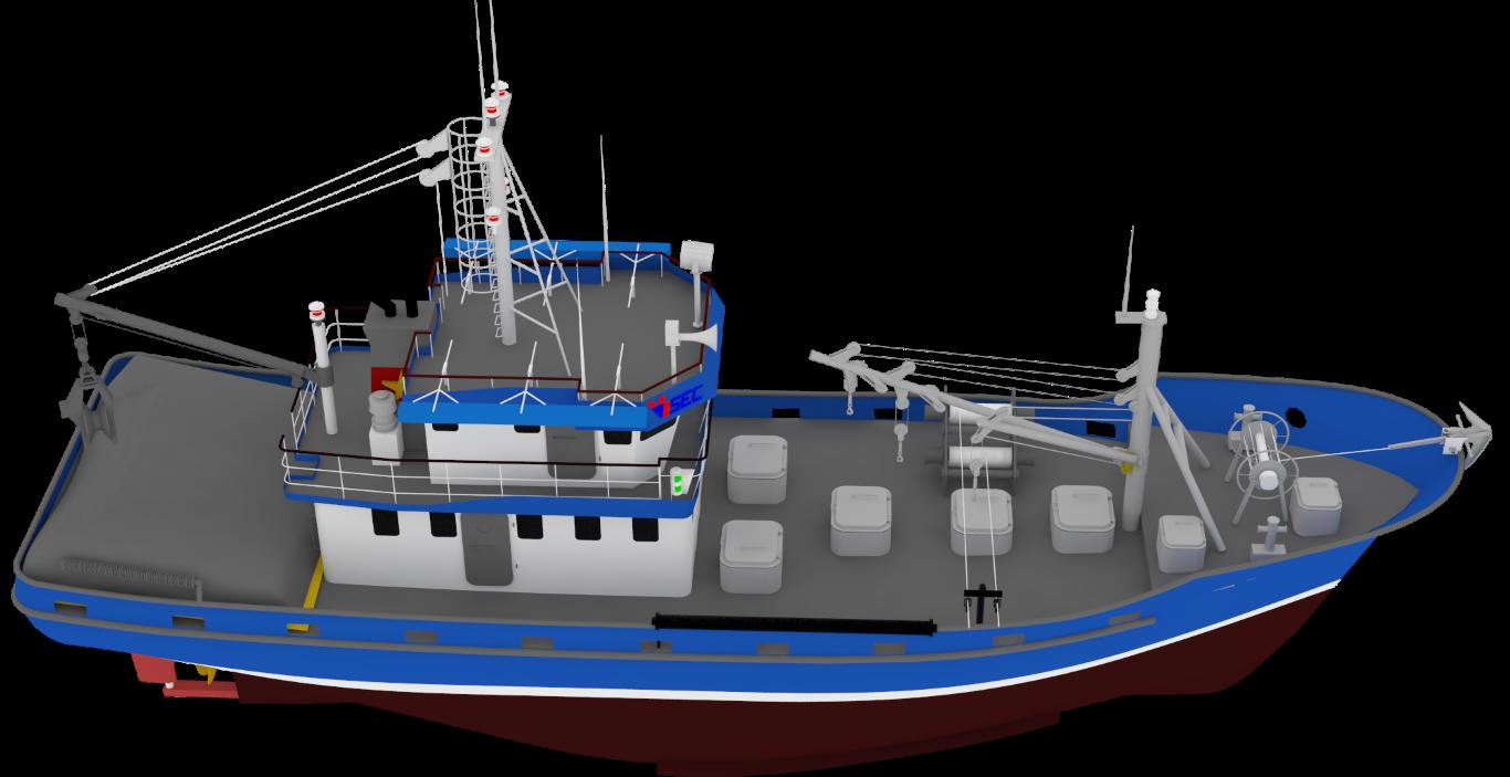 Purse seines fishing vessel