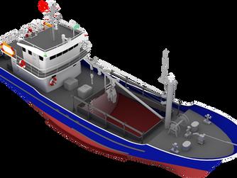 Thiết kế mẫu tàu cá vỏ sắt cho Bộ NN & PTNT