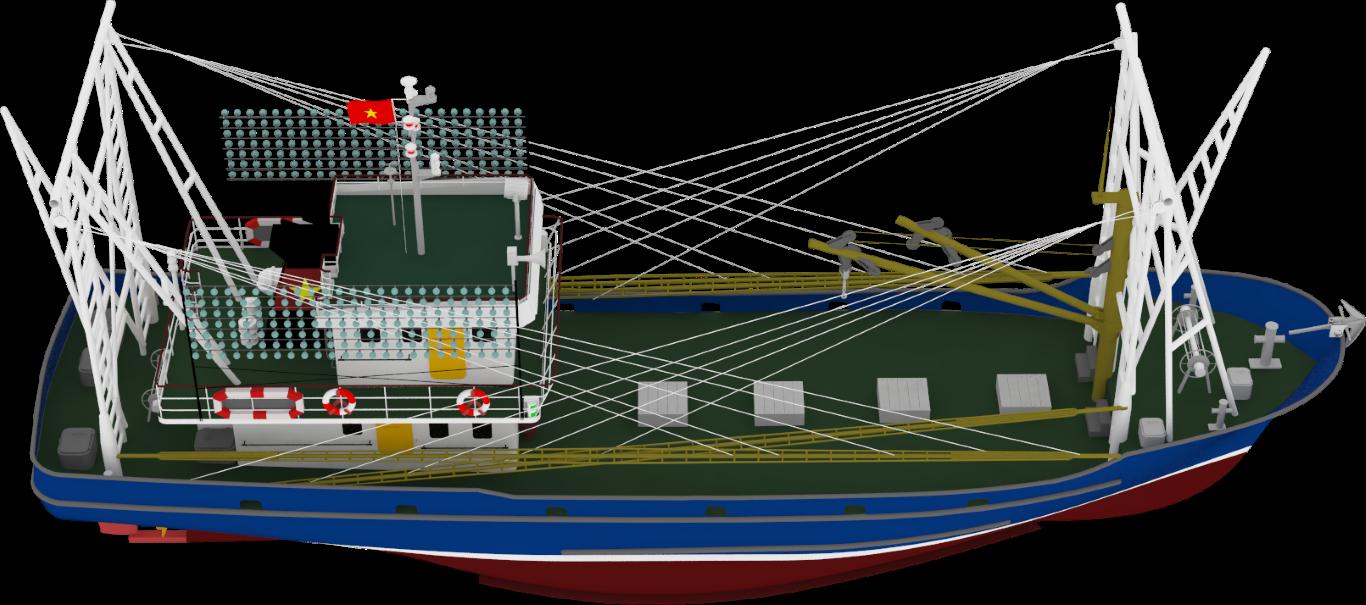 Troller fishing vessel